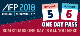 With One Day Passes at AFP 2018 you can pick the day that works best for you.