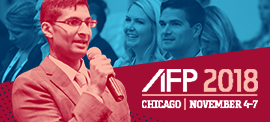Stand out by speaking up. Submit your proposal to speak at AFP 2018.