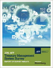 2016 AFP Treasury Management System Survey
