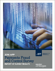 2016 AFP Payments Fraud and Control Survey